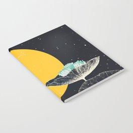 soleil couchant sur nénuphars Notebook