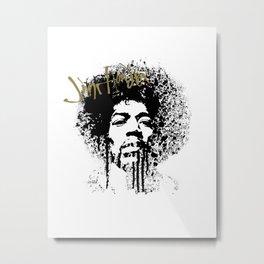Jimi Hendrix / ink Metal Print