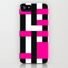 Licorice Bytes, No.18 in Black and Pink iPhone Case