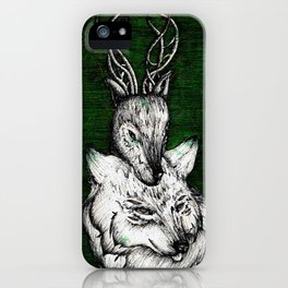 The wolf and the halla iPhone Case