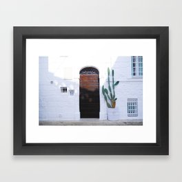 Summer and cactus Framed Art Print