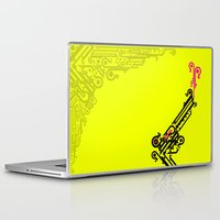 typo Laptop & iPad Skins featuring Gun Typo by flyingfawazo