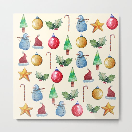 Christmas!! Pattern! (Holidays) Metal Print
