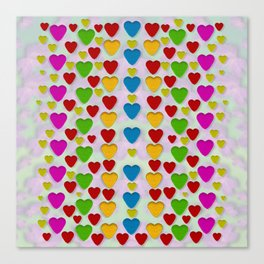 So sweet and hearty as love can be Canvas Print