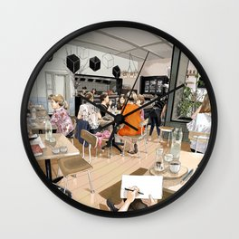 Coracle Cafe Wall Clock