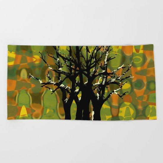 Tree Clusters Beach Towel