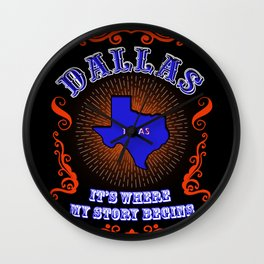 Dallas in Texas Wall Clock