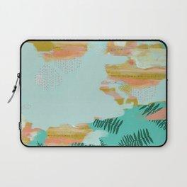 Seafoam Fern Collage Laptop Sleeve