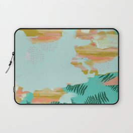 Seafoam Fern Collage Laptop Sleeve