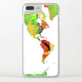 World Map - Watercolor 14 Clear iPhone Case