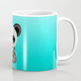 Cute Baby Panda With Football Soccer Ball Coffee Mug