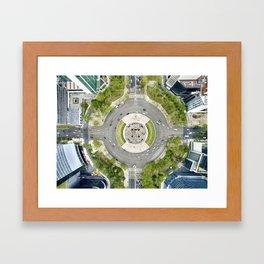 Angel de la independencia in Mexico city Framed Art Print