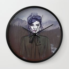Purple Sky Wall Clock