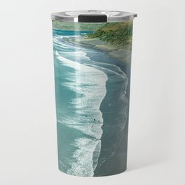 Raglan beach, New Zealand Travel Mug
