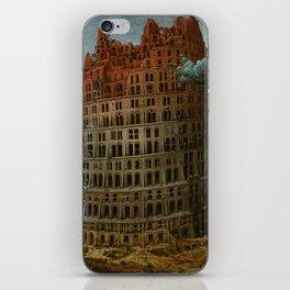 Pieter Bruegel the Elder - The Tower of Babel (Rotterdam) iPhone Skin