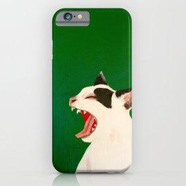 Hissing Cat iPhone Case