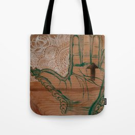 Heartline Henna  Tote Bag