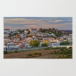 Silves in evening light, Portugal Rug
