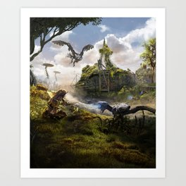 Cardiff [Horizon Zero Dawn] Art Print