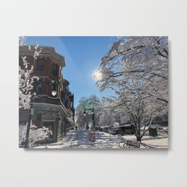 State Street Winter Wonderland Metal Print