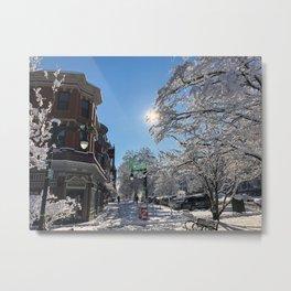 State Street Winter Wonderland Metal Print