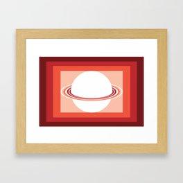 Vinigo Red Framed Art Print