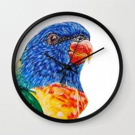 Marli the Rainbow Lorikeet Wall Clock