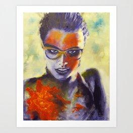 woman in water Art Print