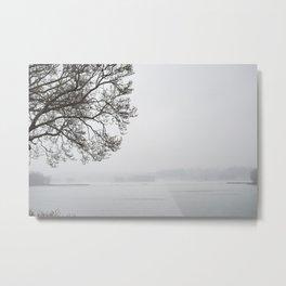 Tree&Fog Metal Print