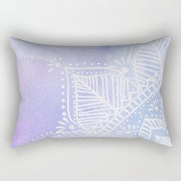 Mandala flower on watercolor background - pink and lilac Rectangular Pillow