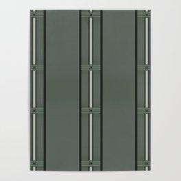 Olive Green Bar Stripes Poster