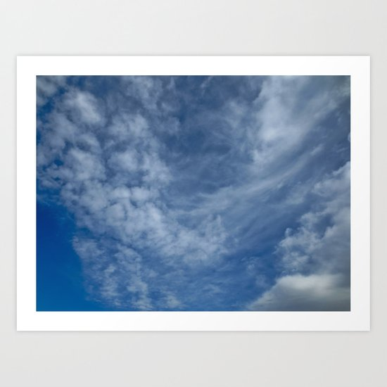Just Clouds Art Print
