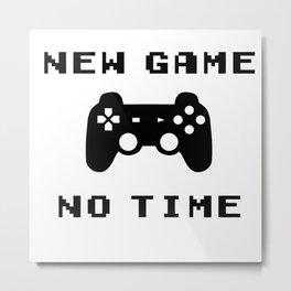 Funny Gamer Geek Controler New Game Nerdy Gift Metal Print