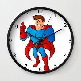 Cartoon Superhero Wall Clock