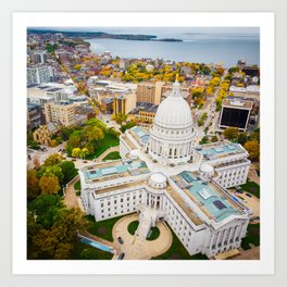Madison, Wisconsin Art Print