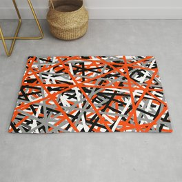 Orange Criss Cross Rug