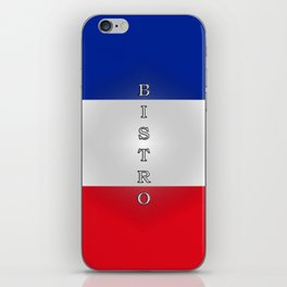 Tricolore Bistro iPhone Skin