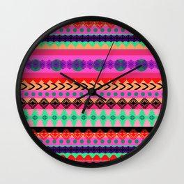 Tribal Stripe Wall Clock