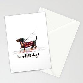 Hot Dachshund dog Stationery Cards