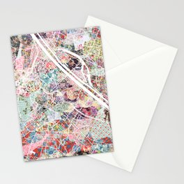 Vienna map Stationery Cards