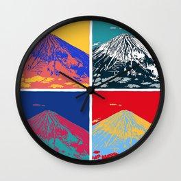 Mt. Fuji Pop Art Wall Clock