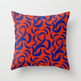 Many Moons - Red Throw Pillow