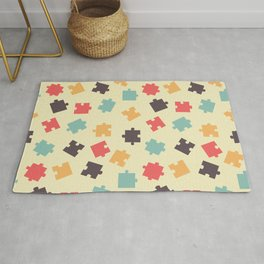Pieces of puzzle pattern Rug