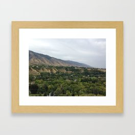 USU overlook Framed Art Print