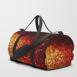 Fire and flames - Red and yellow glitter effect texture Duffle Bag