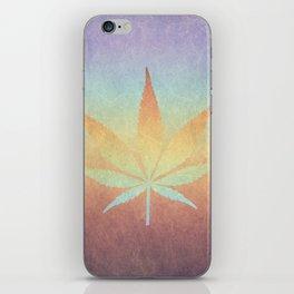 Cannabis sativa iPhone Skin