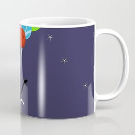 Flying Space Cat Coffee Mug