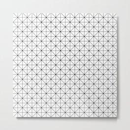 Triangulations pattern, modern geometric print Metal Print