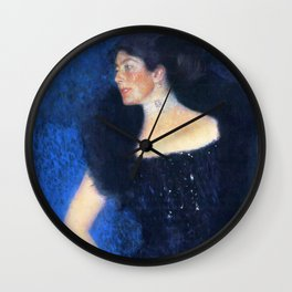 "Gustav Klimt ""Portrait of Rose von Rosthorn-Friedmann"" Wall Clock"