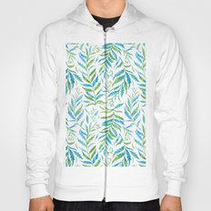 Leaves Green And Blue Hoody